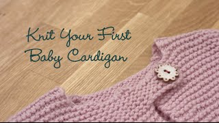 getlinkyoutube.com-Knit Your First Baby Cardigan PREVIEW