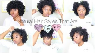 getlinkyoutube.com-Natural Hairstyles That Are Cute AF