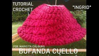 """getlinkyoutube.com-Bufanda Cuello a Crochet """"Ingrid"""" por Maricita Colours Ganchillo"""