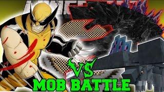 getlinkyoutube.com-WOLVERINE VS HAMMERHEAD & MOBZILLA - Minecraft Mob Battles - Superheros Unlimited Mods