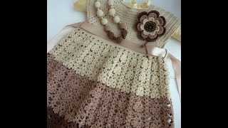 getlinkyoutube.com-Crochet dress| How to crochet an easy shell stitch baby / girl's dress for beginners 6