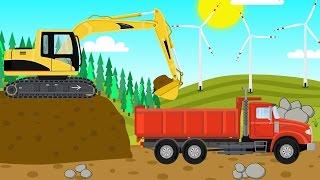 getlinkyoutube.com-Construction Vehicles For Children | Excavator, Truck, Bulldozer | Maszyny Budowlane dla Dzieci