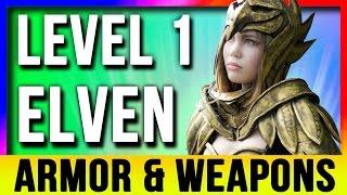 getlinkyoutube.com-Skyrim Special Edition Best Light Armor & Weapons ELVEN At LEVEL ONE Location (Remastered Starter)