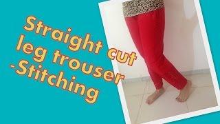 getlinkyoutube.com-How to stitch straight leg ladies trouser