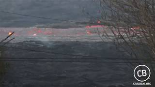 Fast Moving Lava Flow From Fissure 8 In Leilani Estates June 16, 2018