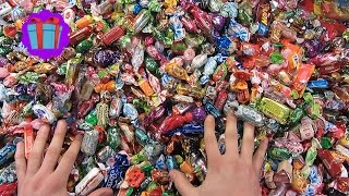 getlinkyoutube.com-New! Many Candy and Sweets! Candy Man goes Crazy!