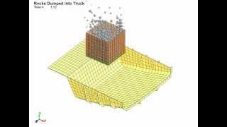 getlinkyoutube.com-LS-DYNA Discrete Element Method Simulation of Rocks being Dropped into Dump Truck.wmv
