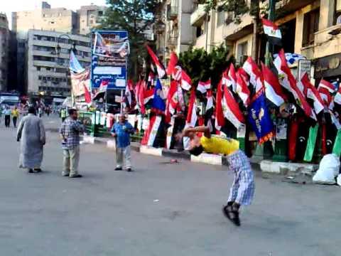 جمباز خطير في ميدان التحرير نسرالكونغ فو جابرGymnastics