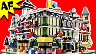 getlinkyoutube.com-Lego City MINI MODULAR Buildings 10230 Stop Motion Build Review