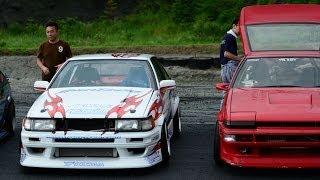 JDM AE86 RUNFREE SR20 VS 4AG at Nikko circuit