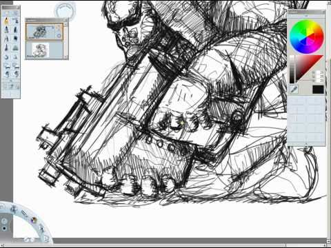 SketchBook Pro Speed Draw (Upload Test)