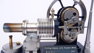 getlinkyoutube.com-Stirling engine with Rhombic drive