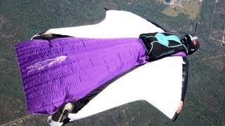 getlinkyoutube.com-Glide Ratio - Wingsuit VS Parachute