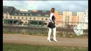 getlinkyoutube.com-karina white leather boots