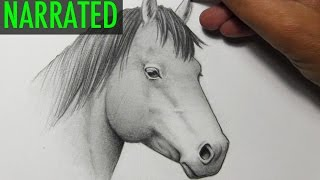 getlinkyoutube.com-How to Draw a Horse [Narrated Step by Step]