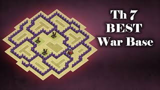 getlinkyoutube.com-TH7 War Base (III) with 3 Air Defenses With REPLAYS!!! | Clash of Clans