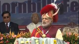 getlinkyoutube.com-PM Modi attends Hornbill Festival in Nagaland (full event)