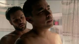 getlinkyoutube.com-Jack Falahee / Conrad Ricamora - talking in the shower - How to Get Away With Murder season 3