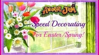 getlinkyoutube.com-Animal Jam: Speed Decorating For Easter/Spring!