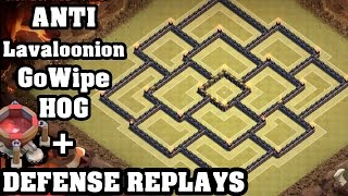 getlinkyoutube.com-Clash of Clans - Town hall 9 (Th9) War Base + Defense REPLAY - ANTi GoWipe ANTi Lavaloonion ANTi Hog