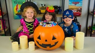 getlinkyoutube.com-HUGE Halloween Pumpkin Surprise Bucket Surprise Toys My Little Pony Moana Trolls Kinder Playtime