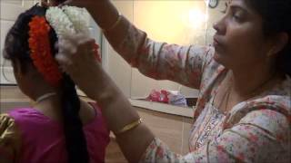 getlinkyoutube.com-Hair dressing for pattu langa kids