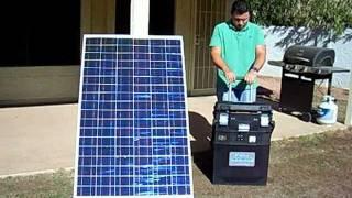 getlinkyoutube.com-Portable Solar Generator -No Gas, No Fumes, No Noise.