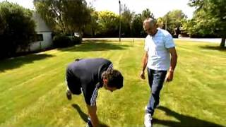 getlinkyoutube.com-Dan Carter practising his kicking at home with his dad.