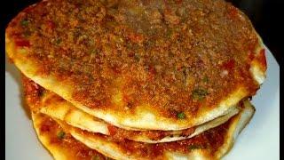 getlinkyoutube.com-Türkische Pizza-Türkische Rezepte- Ev yapimi Lahmacun tarifi