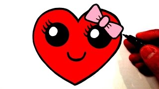 getlinkyoutube.com-How to Draw a Cute Heart Smiley Face with a Bow