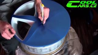 getlinkyoutube.com-How-to by Wrapping Rims in Matte Blue Vinyl COLORCHANGE ( Polep alu kol ) 2013