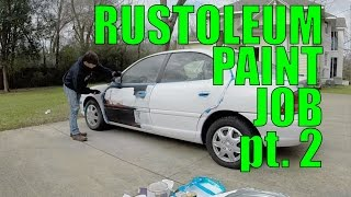 getlinkyoutube.com-DIY Car Projects: Rustoleum Paint Job pt 2