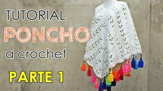 getlinkyoutube.com-Como tejer un poncho a crochet en todos los talles (1 de 3)
