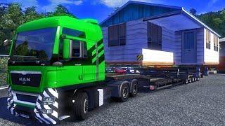 Transportando uma Casa - Euro Truck Simulator 2