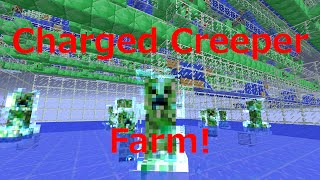 getlinkyoutube.com-Automatic* Charged Creeper Farm Tutorial for Minecraft 1.8 (512 Subscriber Special)