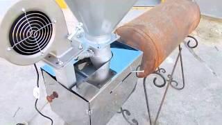 getlinkyoutube.com-Пеллетные горелки с гравитационной подачей пеллет ч3