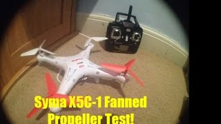 getlinkyoutube.com-Syma x5c fanned propellers - review and test
