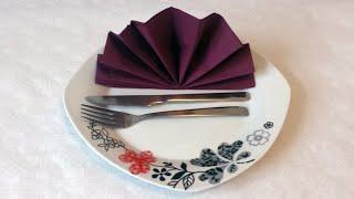 getlinkyoutube.com-How to do paper napkin folding 05