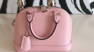 getlinkyoutube.com-Louis Vuitton Epi Alma BB in Rose Ballerine