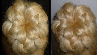 getlinkyoutube.com-Einfache Frisuren.Flechtfrisuren mit Dutt.Zopffrisuren.Donut Hair Bun Updo Hairstyles.Peinados