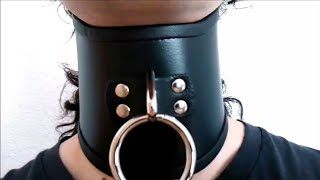 Wearing Leather Posture Collar