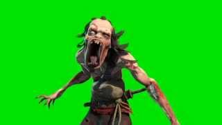 Green Screen Zombie on Fire Halloween Horror - Footage PixelBoom
