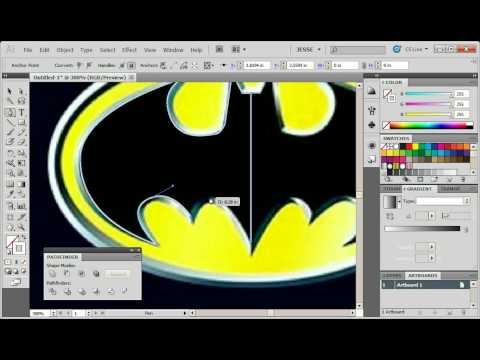 Illustrator (32) How to Draw Batman Logo