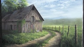 getlinkyoutube.com-Barn by the Road | Paint with Kevin Hill | landscape in Oils