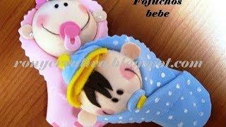 getlinkyoutube.com-fofucha bebe de foamy o goma eva, NIÑO Y NIÑA CURSO COMPLETO / Ronycreativa