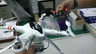 getlinkyoutube.com-QR X350空拍機 辦公室練習試飛