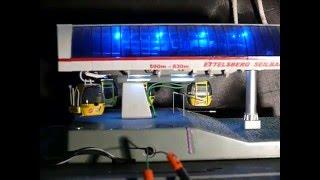 Kuppelbare Modellseilbahn 1:87 mit Kabinen der Sinalcobahn
