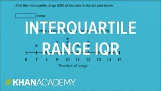 getlinkyoutube.com-How to calculate interquartile range IQR | Data and statistics | 6th grade | Khan Academy