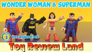 getlinkyoutube.com-Imaginext Wonder Woman & Superman with Batman and A Fake Superman!