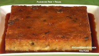 getlinkyoutube.com-Pudin de Pan y Pasas - Raisin Bread Pudin